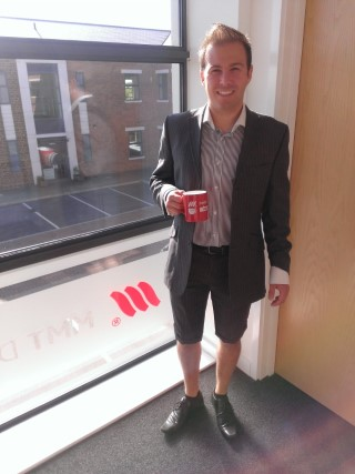 Me In Suit Shorts At Work July 2013