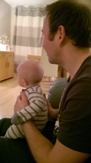 Daddy And Ethan Watching Tv Together March 2016