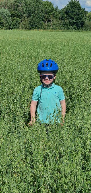 Ethan In Barley Field July 2020