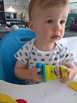 Ethan Play-doh July 2017
