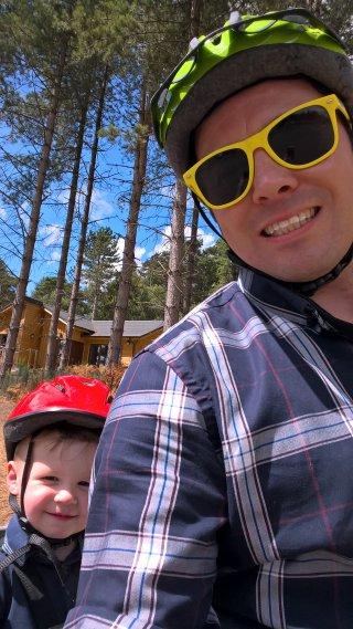 Ethan And I Bike Selfie Centre Parcs Aug 2018