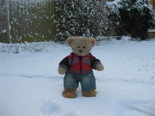 Mini Me In The Snow