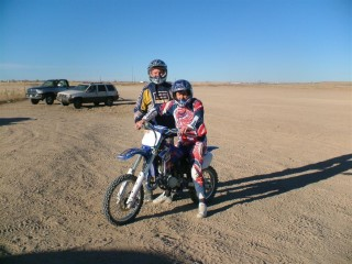 Dad And I On Dirt Bike Colorado 2008