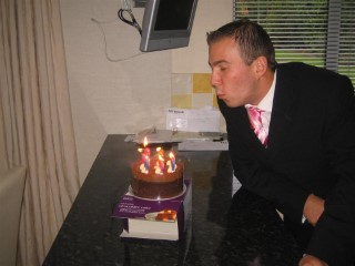 Me Blowing Out Candles On My Birthday 2006