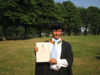 Me With Certificate At My Graduation