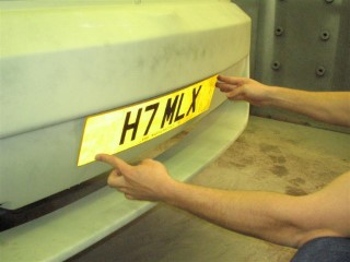 NumberPlate On Rear Bumper