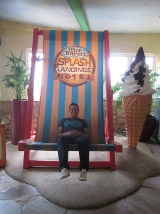 Big Chair Me Alton Towers Waterpark July 2013