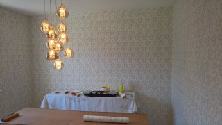 Big Wall Wallpapering Dining Room Nov 2018