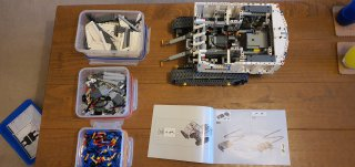 Bits Sorted Bag 3 Progress Lego Liebherr Digger Feb 2021