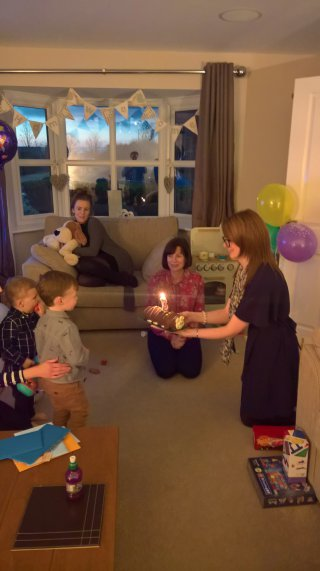 Blowing Out Candles Ethans 3rd Birthday Party Nov 2018