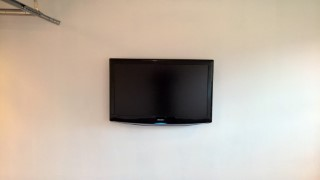 Boarding The Garage And Skirting March 2016 Tv Mounted