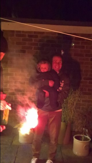 Bonfire Night Nov 2016 Ethan And I