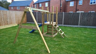 Building Ethans Swing And Slide Set Oct 2016 Swing Frame