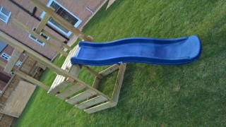 Building Ethans Swing And Slide Set Oct 2016 The Slide