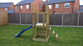 Building Ethans Swing And Slide Set Oct 2016 With Steps
