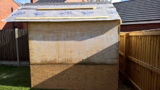 Building The Shed Roof Oct 2016 Side