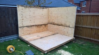 Building The Shed Structure Oct 2016 2 Walls Up