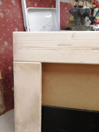 Corner Close Up Sanding And Jointing Frame Magic Mirror Dec 2020