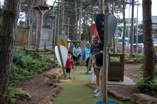 Crazy Golf Center Parcs Nottingham Sunday August 2019