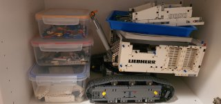 Cupboard Stored Bag 3 Progress Lego Liebherr Digger Feb 2021