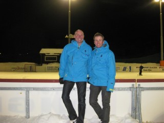 Dad And I Ice Rink Skiing 2011
