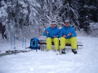 Dad And I Lunch Spot Skiing Borovets 2014