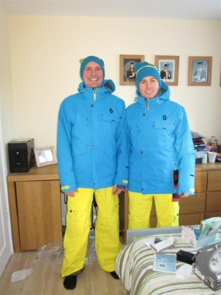 Dad And I Ski Suits Xmas 2010