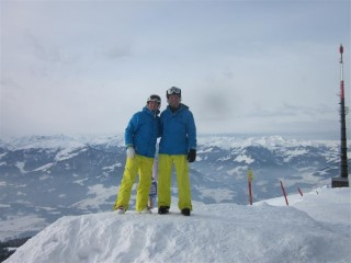 Dad and I Skiing Austria 2012