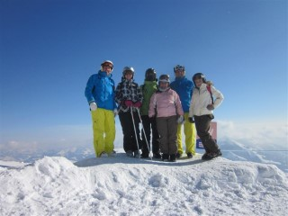 Day 1 Group Skiing Austria 2012