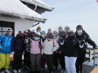 Day 2 Group Skiing Austria 2012