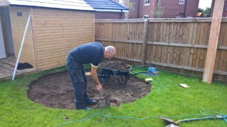 Digging The Circle Starting The Back Garden June 2017