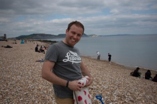 Dorset May 2015 Lyme Regis Me Packing Up