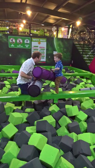 Ethan And I Beam Flip Out Trampolining April 2019