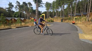 Ethan And I Bike Centre Parcs August 2018