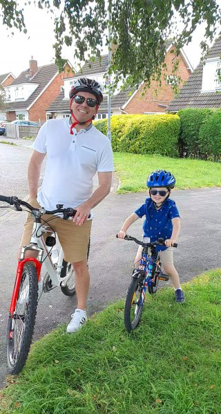 Ethan And I Bike Outside Day July 2020