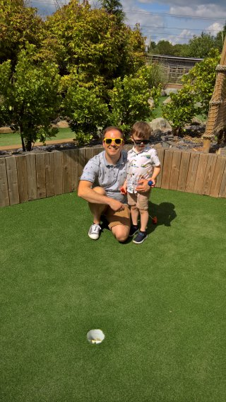 Ethan And I Blaby Crazy Golf June 2019