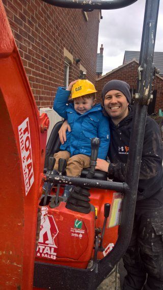 Ethan And I Building Work And Digger April 2019