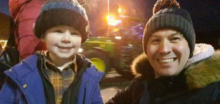 Ethan And I Dark Lutterworth Tractor Parade Dec 2020