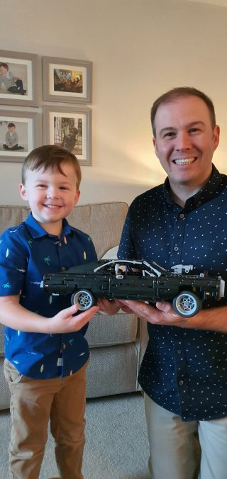 Ethan And I Finished Fast And Furious Lego Technic Charger Build Aug 2020