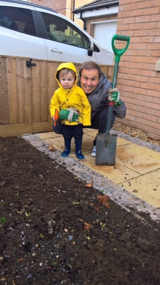 Ethan And I Gardening September 2017