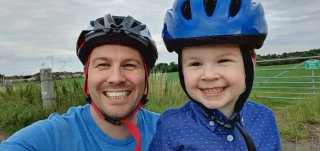 Ethan And I Long Evening Bike Ride Under M1 July 2020
