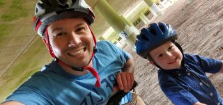 Ethan And I Lost Long Evening Bike Ride Under M1 July 2020