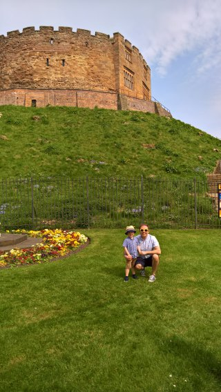 Ethan And I Outside Tamworth Castle April 2019