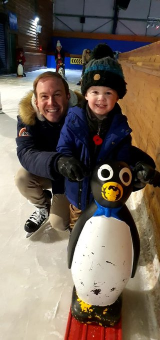 Ethan And I Penguin Tamworth Ice Skating Feb 2020