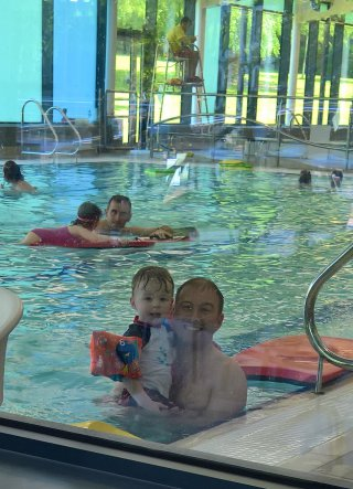 Ethan And I Pool Hinckley Leisure Centre Park And Swimming April 2018