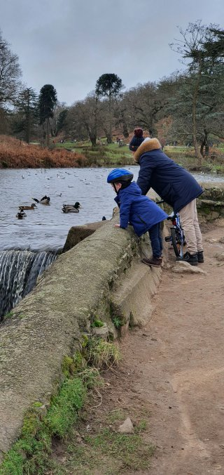 Ethan And I Riding Bike Bradgate Park Jan 2020