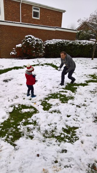 Ethan And I Snowballs Snow Day 10th December 2017