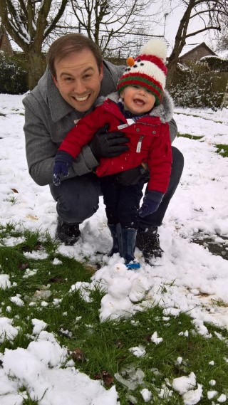 Ethan And I Snowman Snow Day 10th December 2017