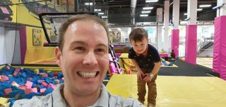 Ethan And I Sweating Boost Trampoline Park Daddy Day Dec 2019