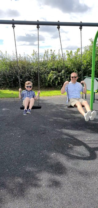 Ethan And I Swings Broughton Astley Park Afternoon Sept 2020